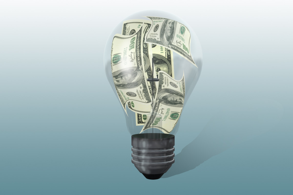 Light bulb with dollars GkvesOd